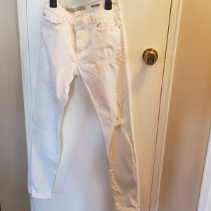 Zara white distressed jeans